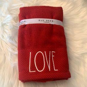 Rae Dunn LOVE set of 2 hand towels